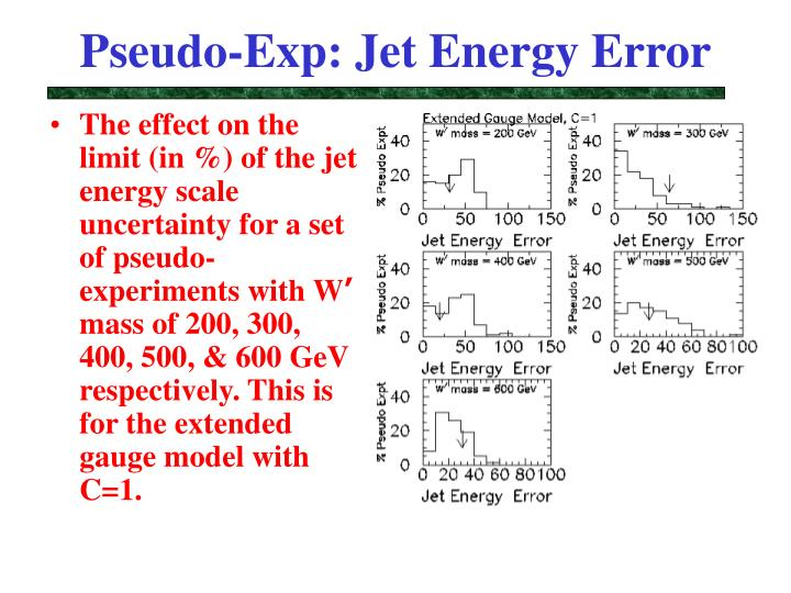 Pseudo-Exp: Jet Energy Error