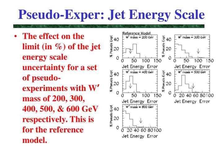 Pseudo-Exper: Jet Energy Scale