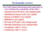 systematic errors1