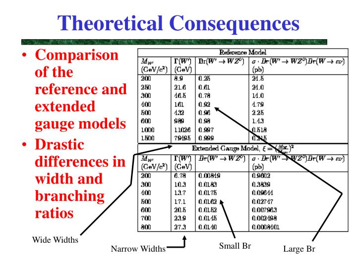 Theoretical Consequences