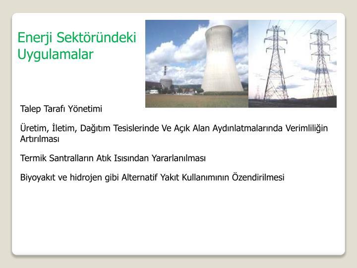 Enerji Sektöründeki