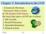 chapter 1 introduction to the cot