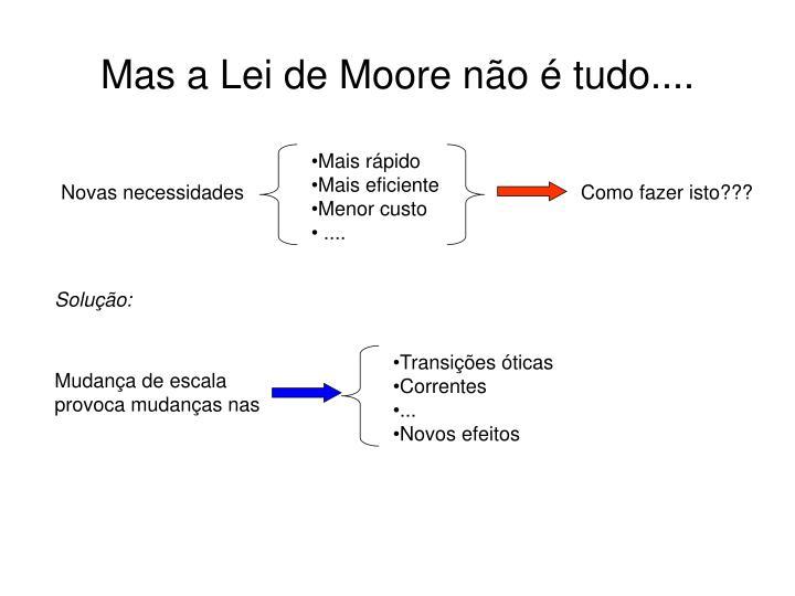 Mas a Lei de Moore não é tudo....