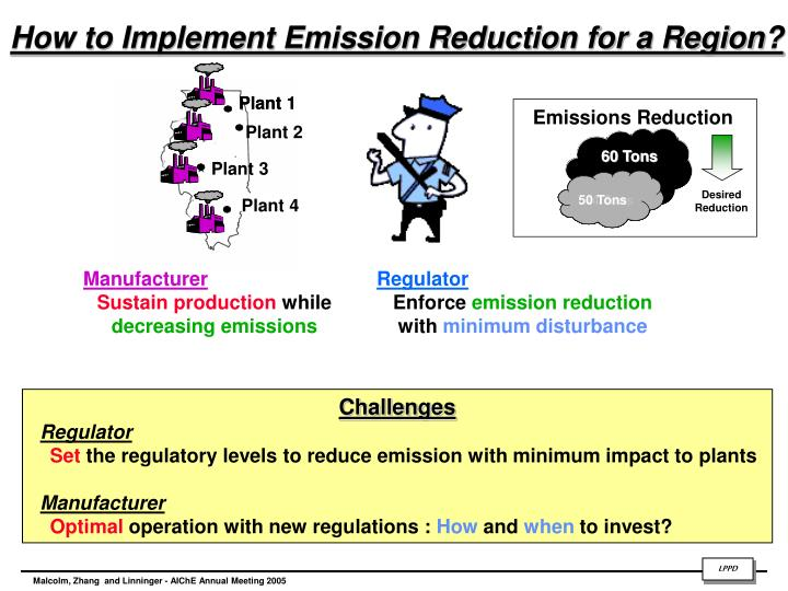 How to implement emission reduction for a region