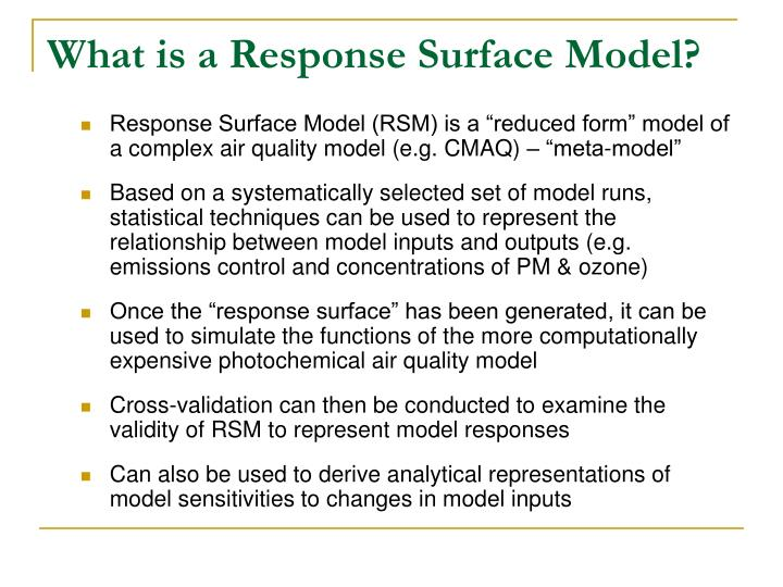 What is a Response Surface Model?