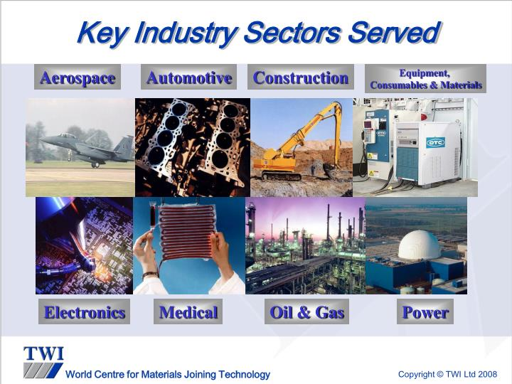 Key Industry Sectors Served