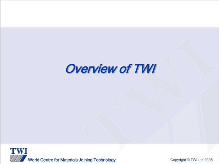 Overview of twi