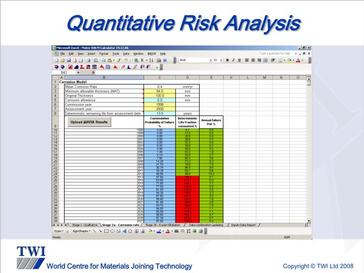 Quantitative Risk Analysis