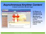 asynchronous anytime content it doesn t end when the bell rings