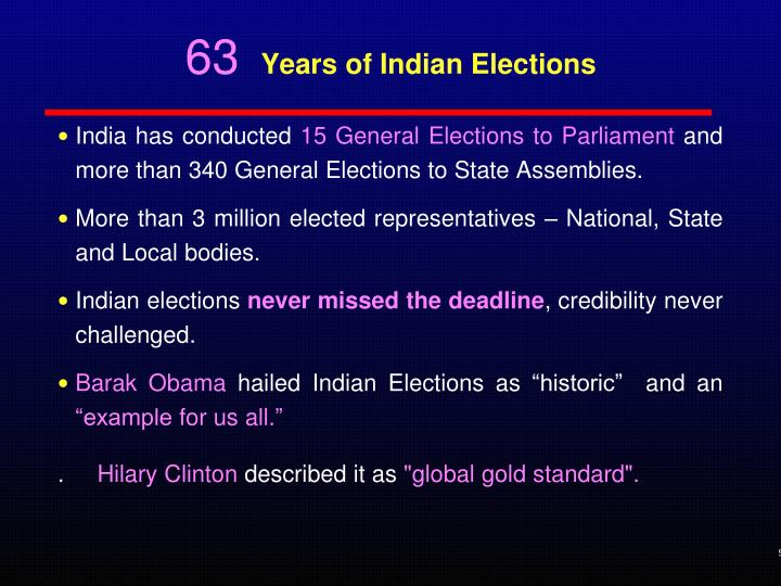 63 years of indian elections