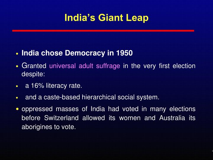 India s giant leap