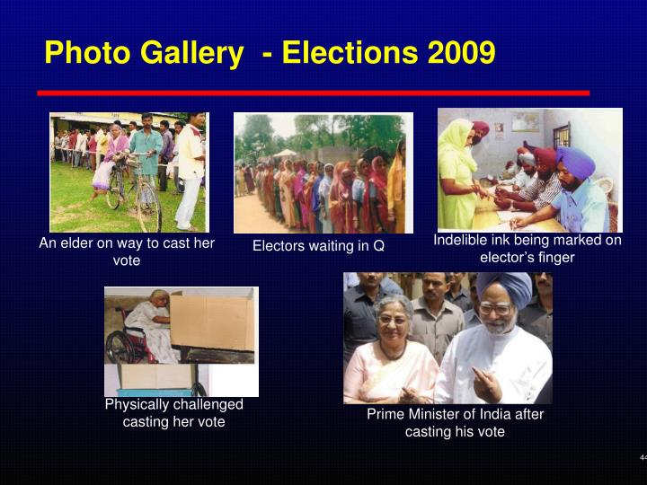 Photo Gallery  - Elections 2009
