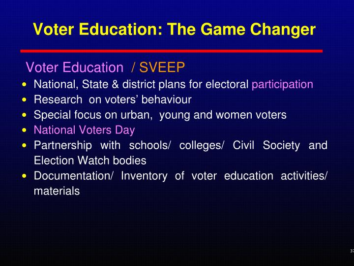 Voter Education: The Game Changer