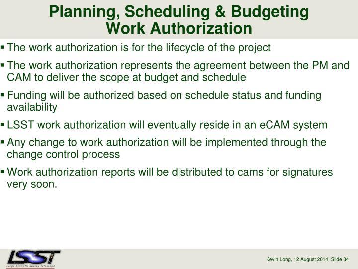 Planning, Scheduling & Budgeting