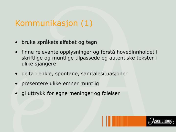 Kommunikasjon (1)