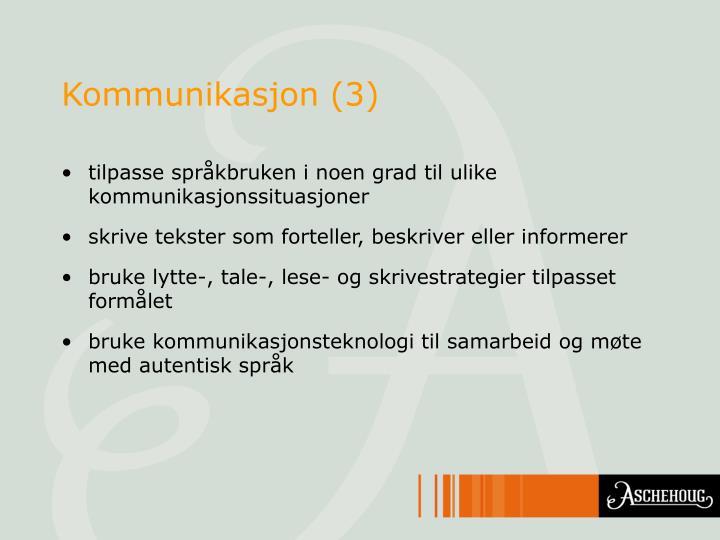 Kommunikasjon (3)