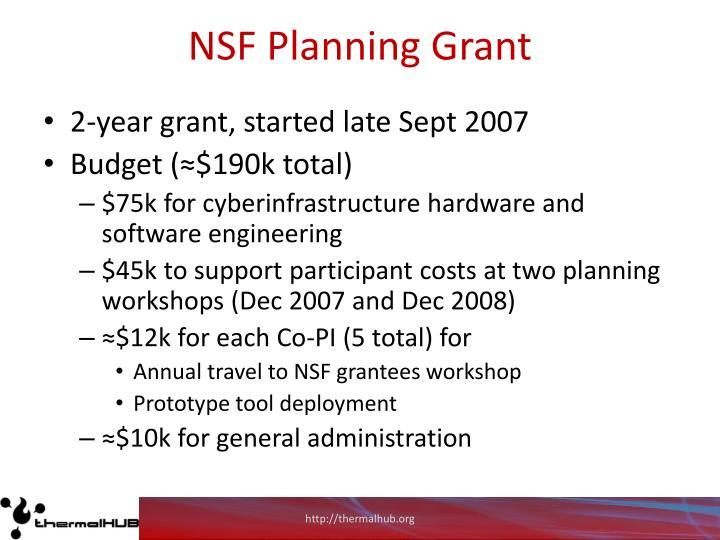 NSF Planning Grant