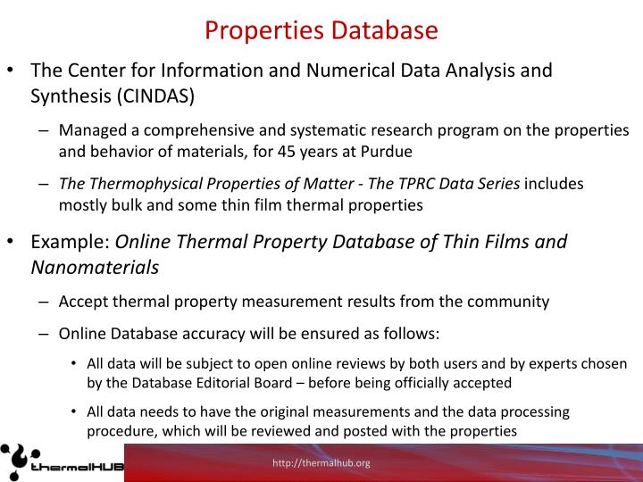 Properties Database