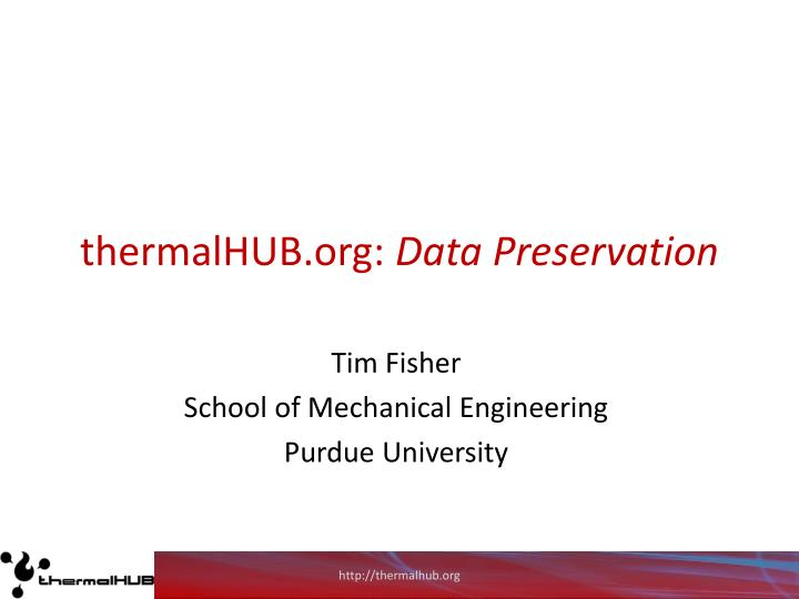 Thermalhub org data preservation