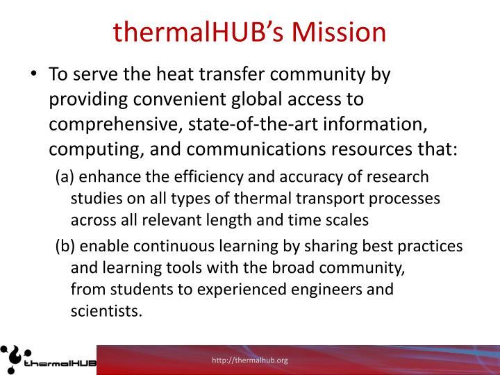 thermalHUB's Mission