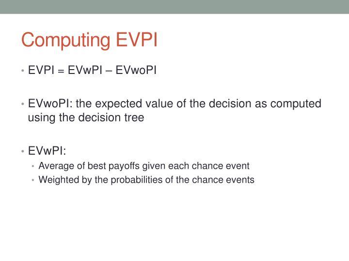 Computing EVPI