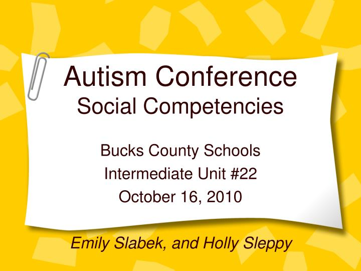 Autism conference social competencies