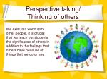 perspective taking thinking of others
