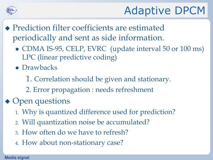 Adaptive DPCM