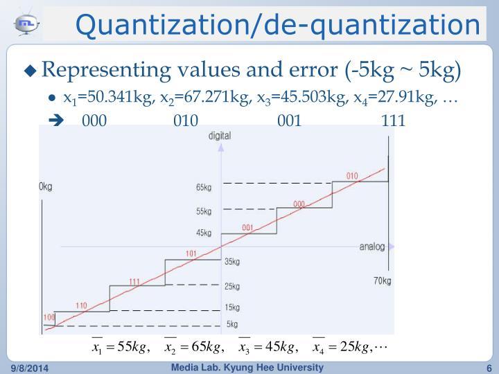Quantization/de-quantization