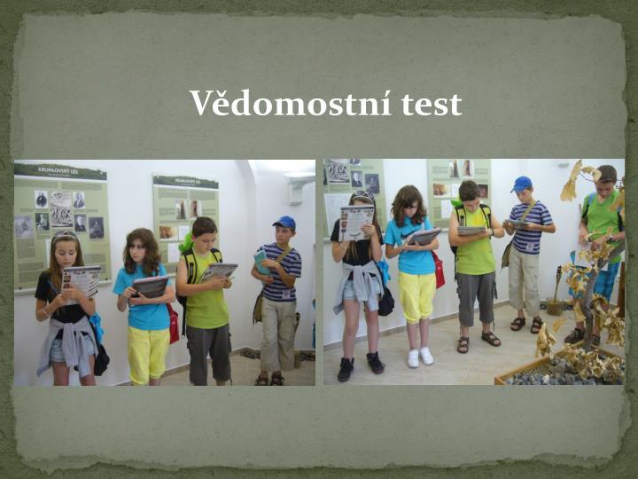 Vědomostní test