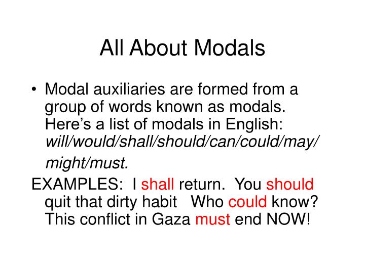 All About Modals