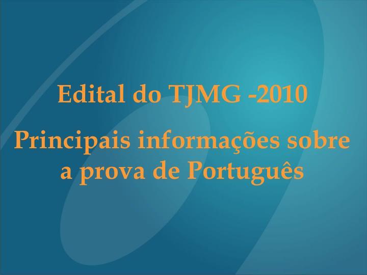 Edital do TJMG -2010