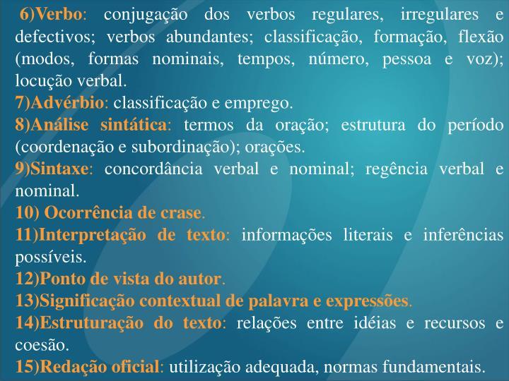 6)Verbo