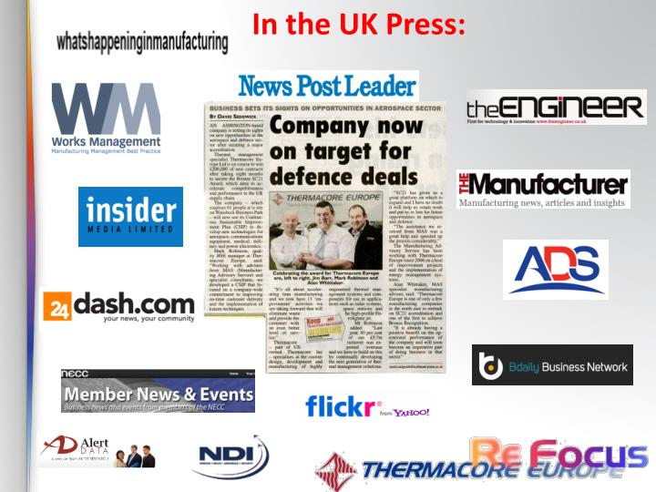 In the UK Press: