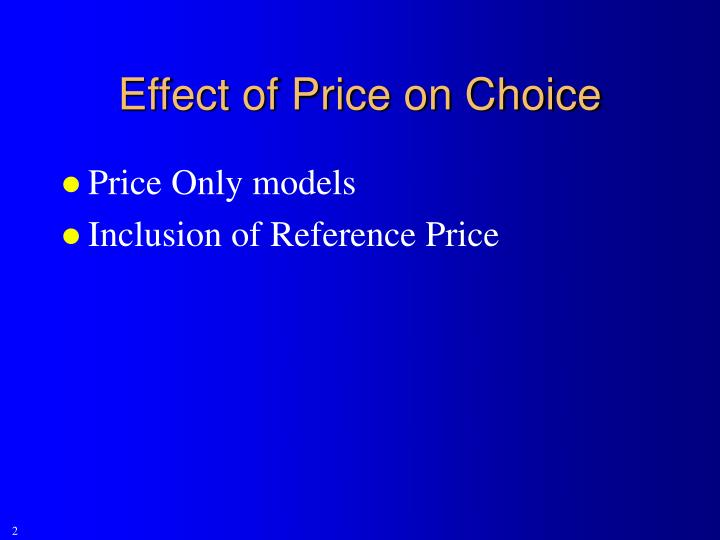Effect of Price on Choice