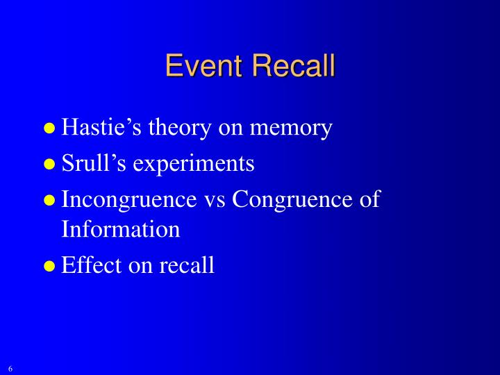 Event Recall
