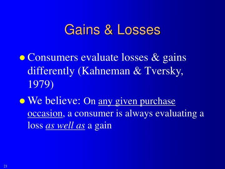 Gains & Losses