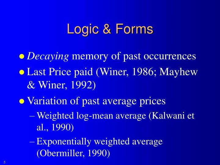 Logic & Forms