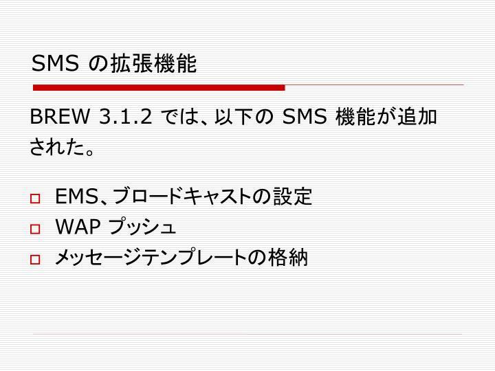 SMS の拡張機能