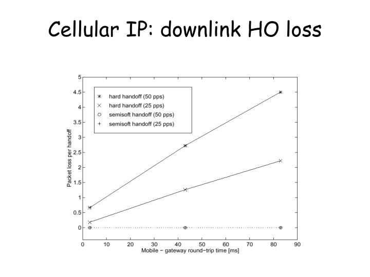 Cellular IP: downlink HO loss
