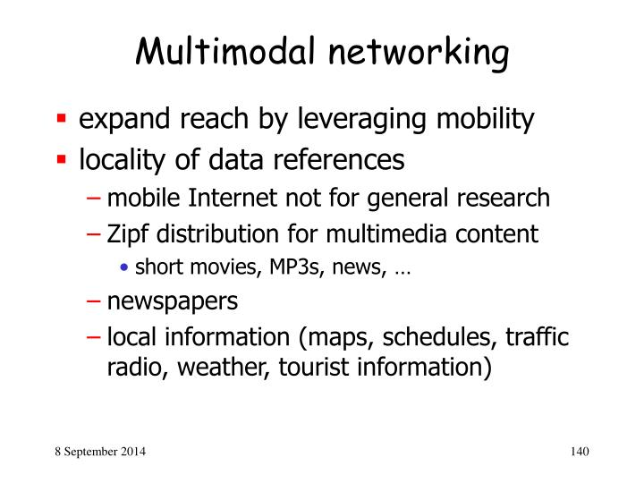 Multimodal networking
