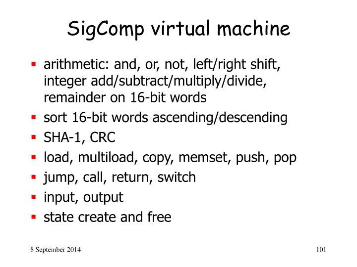 SigComp virtual machine