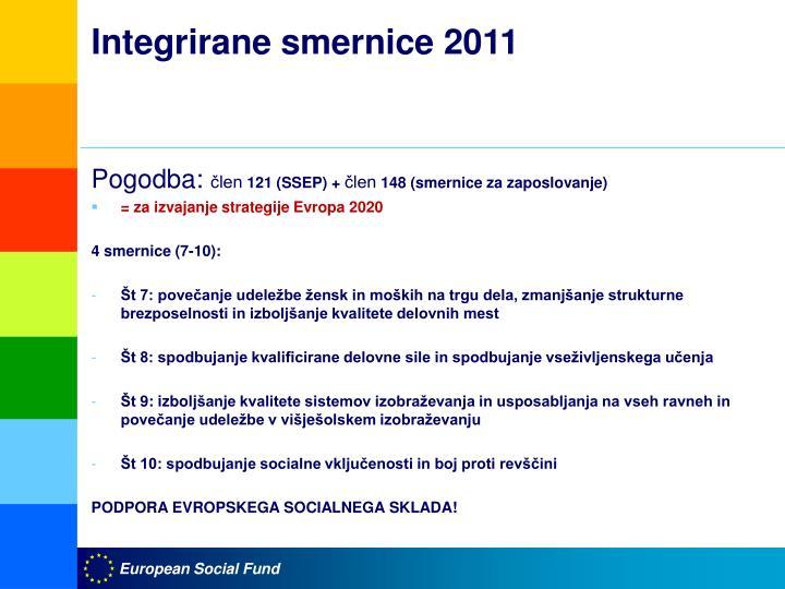 Integrirane smernice 2011