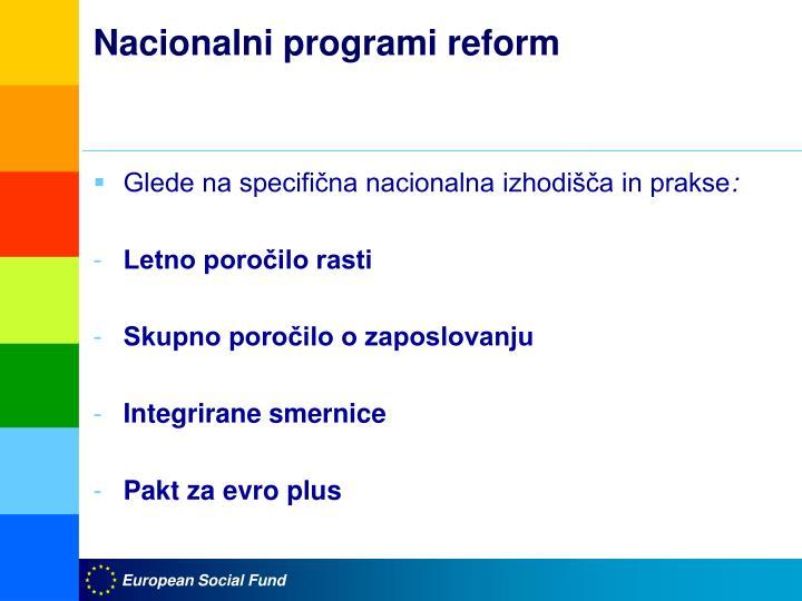 Nacionalni programi reform
