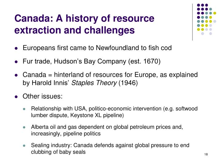 Canada: A history of resource extraction and challenges