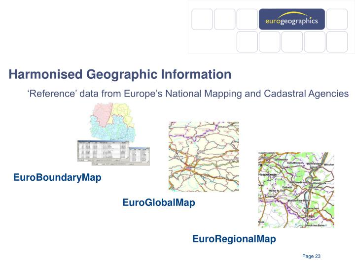 Harmonised Geographic Information