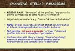 changing stellar paradigms