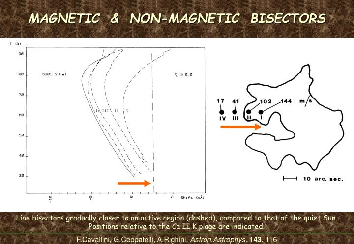 MAGNETIC  &  NON-MAGNETIC  BISECTORS