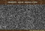 observed solar granulation