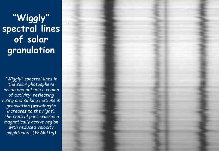 """Wiggly"" spectral lines of solar granulation"